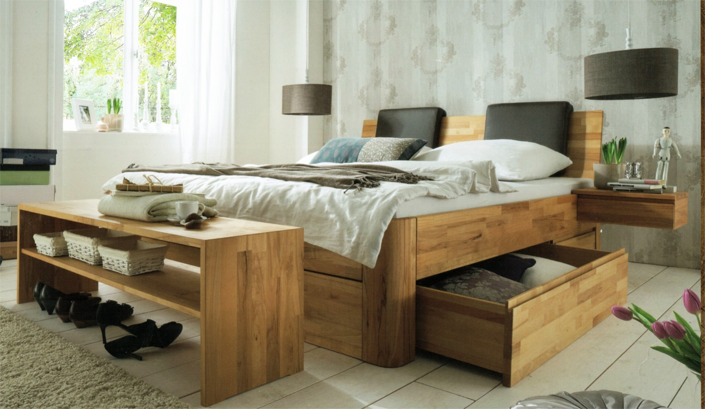 naturbelassene massivholzbetten massivholzschlafzimmer in schw bisch gm nd preisg ndtig. Black Bedroom Furniture Sets. Home Design Ideas