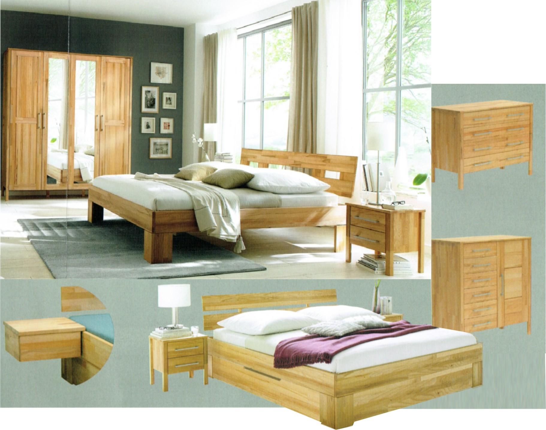 naturbelassene massivholzbetten massivholzschlafzimmer in Schwäbisch ...