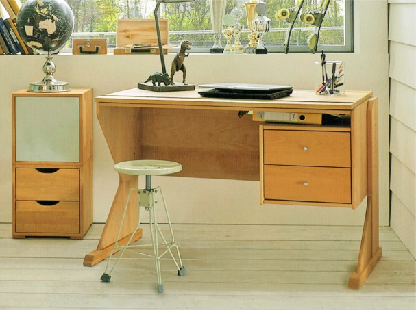 Schreibtisch massiv weiss
